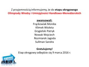 Olimpiada Wiedzy i Umiejętności Handlowo-Menedżerskich