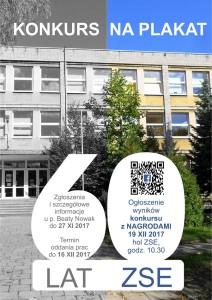 Zapraszamy uczniów i absolwentów do udziału w konkursie na plakat z okazji 60-lecia ZSE!