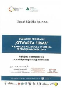 Relacja firmy Szwak&Spółka ze spotkania z uczniami ZSE