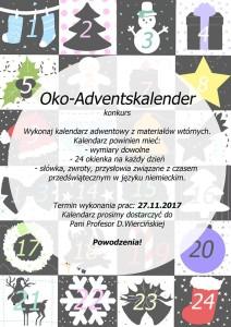 Zapraszamy na konkurs na kalendarz adwentowy!