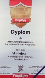 III miejsce w Poznaniu, VI miejsce w Wielkopolsce!