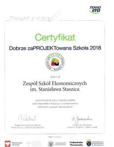 Certyfikat dla ZSE!