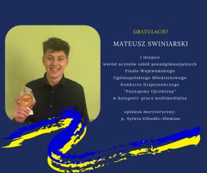 Serdecznie gratulujemy Mateuszowi!