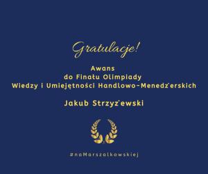 Gratulacje dla Jakuba!